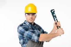 Fachowy pracownik budowlany Obraz Royalty Free