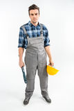 Fachowy pracownik budowlany Fotografia Royalty Free