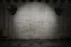 Fachowy stroboskop zaświeca iluminować tło Fotografia Stock