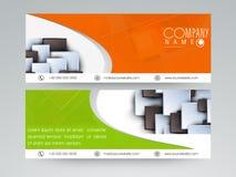Fachowy strona internetowa chodnikowiec, sztandar lub Obraz Royalty Free