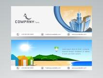 Fachowy strona internetowa chodnikowiec, sztandar lub Obrazy Stock