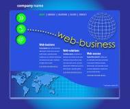 Fachowy strona internetowa szablon Zdjęcia Stock