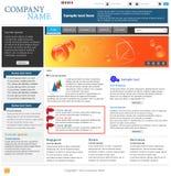 Fachowy strona internetowa szablon Zdjęcie Stock