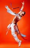 fachowy tancerza wyczyn kaskaderski Fotografia Royalty Free