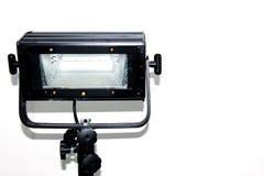 Fachowy wyposażenie dla fotografów, wideo operatorzy, Soffit, oświetleniowy przyrząd, lampa, reflektor na białym tle Fotografia Stock