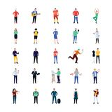 Fachowych Persons ikon Płaska paczka ilustracja wektor