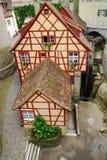Fachwerk房子在欧洲镇。 免版税库存照片