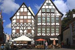Fachwerk domy w Erfurt, Niemcy Zdjęcie Stock