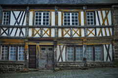 Fachwerk. Facade of fachwerk house, Saint-Brieuc, Brittany, France Royalty Free Stock Image