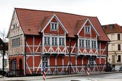 Fachwerk-Haus im alten Hafen von Wismar, Deutschland Lizenzfreie Stockfotografie