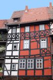 Picturesque fachwerk house at the Merchants Bridge,Erfurt, Germany. Colorful fachwerk house at the Merchant Bridge Kraemerbruecke in Erfurt in Germany; this Stock Images