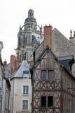 Fachwerkhaus in Blois, Stockfotos