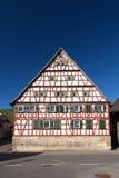 Fachwerkhaus/helft-Betimmerd huis royalty-vrije stock afbeelding