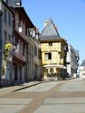Fachwerkhaus in Josselin in Frankreich stockfoto
