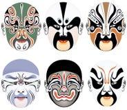 facial Пекин делает оперу установить 10 типов вверх иллюстрация вектора