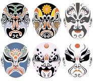 facial 4 Пекин делает оперой установленные типы вверх иллюстрация вектора