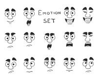 Facial Avatar Emotions Icons Set Royalty Free Stock Images
