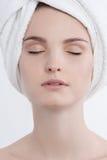 Facial beauty portrait Stock Image