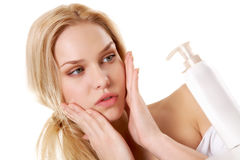 Facial care Royalty Free Stock Images
