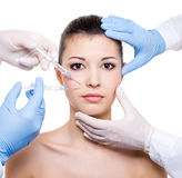 Facial care - Botox Royalty Free Stock Photo