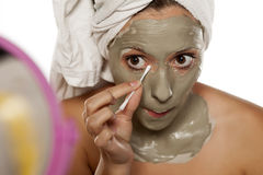 Facial care-mad mask Stock Images