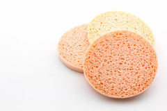 Facial cellulose sponge. Royalty Free Stock Photography