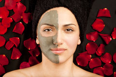 Facial Clay Mask Stock Images