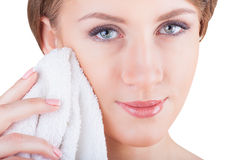 Facial cleansing Royalty Free Stock Photography