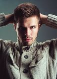 Facial emotions. Fashion portrait of man. male grooming and barber. fashion man with unshaven beard. man. Beard and stock images