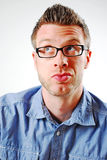 Facial Expression. Image of a man making a facial expression Royalty Free Stock Photo