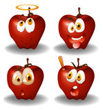 Facial expression on apples Royalty Free Stock Photography
