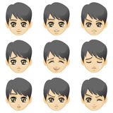 Facial expression of boy (Asian Descent) Stock Image