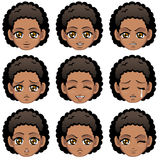 Facial expression of girl (African Descent). Vector Illustration vector illustration