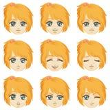 Facial expression of girl (Caucasian Descent) Royalty Free Stock Photos