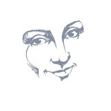Facial expression, hand-drawn illustration of face of delicate g Royalty Free Stock Photos