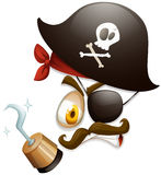 Facial expression with pirate hat Stock Photography