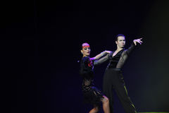 Facial expression-And puppets dance-the Austria's world Dance Stock Photo
