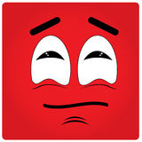Facial Expression. Red background with an abstract facial expression Royalty Free Stock Photo