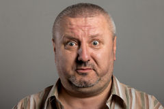 Facial expression of a surprised man Royalty Free Stock Photo