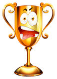 Facial expression on trophy Stock Photo