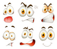 Facial expression on white. Illustration Royalty Free Stock Image