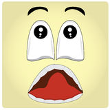 Facial Expression. Yellow background with an abstract facial expression Stock Photography