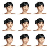 Facial expressions Stock Image