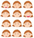 Facial expressions vector illustration