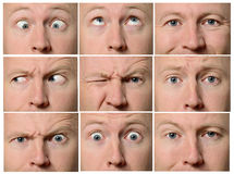 Facial expressions Royalty Free Stock Image