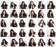 Facial Expressions Compilation. Royalty Free Stock Photography
