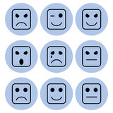 Facial expressions icon designs Stock Photo