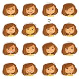 Facial Expressions Set royalty free stock images