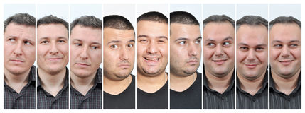 Facial expressions Royalty Free Stock Photos