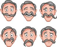 Facial expressions  9 Royalty Free Stock Image